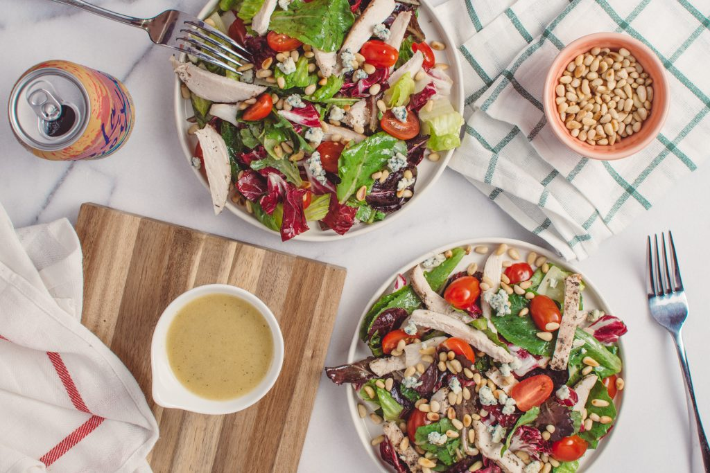 Low price salad with unlimited toppings.