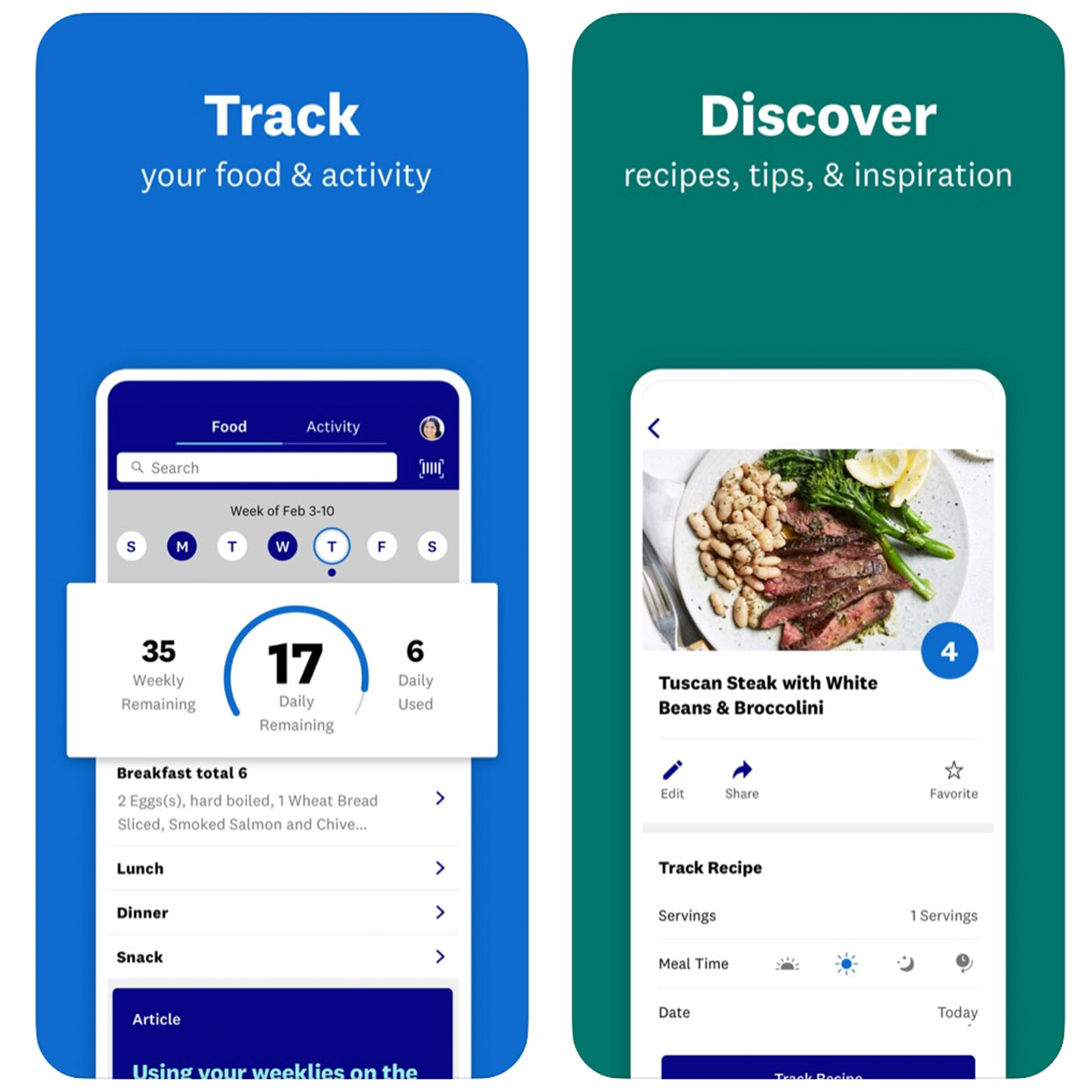 Demonstrate app interface for meal planning and workout tracking